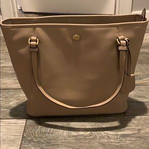 Taupe medium size Coach tote bag